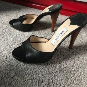 Jimmy Choo Nappa Leather Black Heels